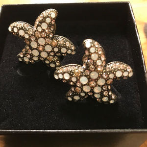 Heidi Daus Starfish Pierced Earrings- NIB